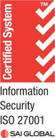 Link to ISO/IEC 27001 certificate from SAI Global.